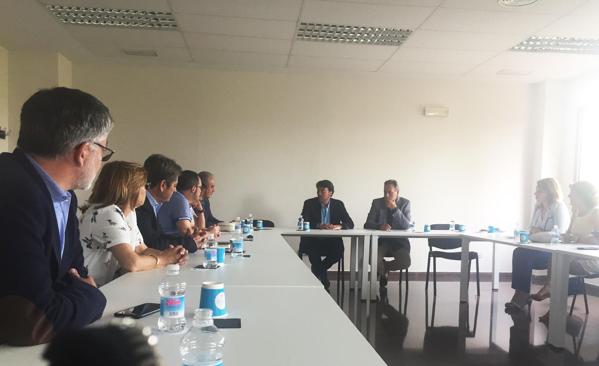 Reunión con el candidato a la Alcaldía de Alicante, Luis Barcala